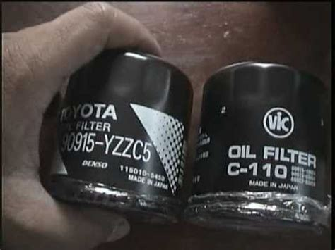 Vic oil filter and Toyota oil filter unboxing C-110 and