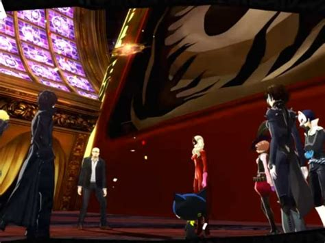 Persona 5 PS4 Ending Shido's Ship Palace and Malevolent