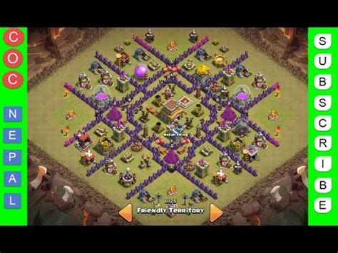 Clash of Clans | Town Hall Level 8 Best War/Trophy Base