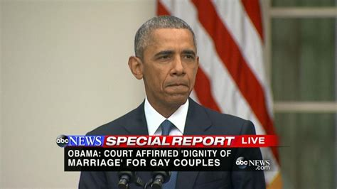 Obama: Supreme Court Ruling on Same-Sex Marriage 'Victory