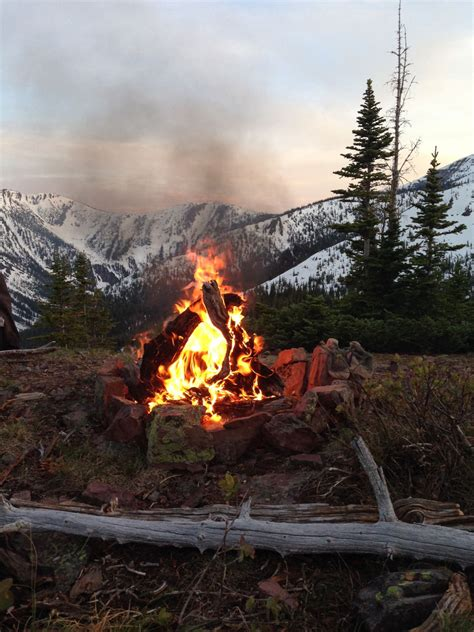 Camp Fire In The Mountains Pictures, Photos, and Images