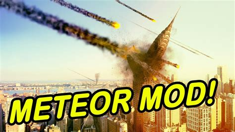 Minecraft | METEOR MOD! | Entire city wiped out! (Again