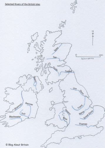 Where? – 2 – Rivers – Blog About Britain   Map of britain