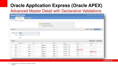 PPT - Oracle Application Express (Oracle APEX) PowerPoint