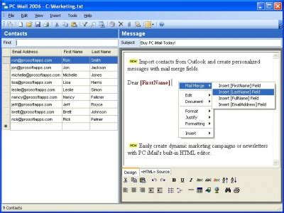PC iMail 2006 review and download