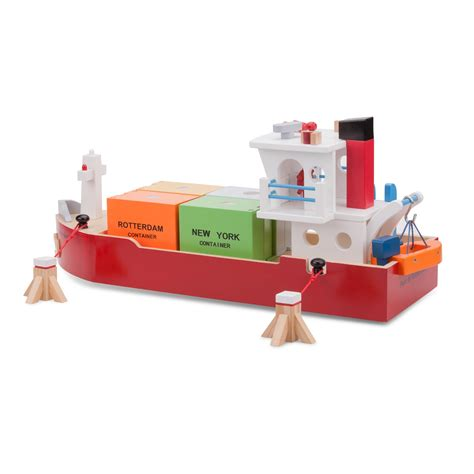 New Classic Toys - Container Ship with 4 containers | New