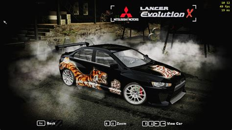 Need For Speed Most Wanted Mitsubishi Lancer Evo 8 vinyls