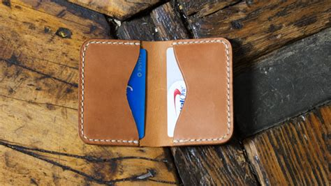 Make A Folded Leather Card Holder - Free Template - Build