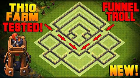 Clash of Clans | BEST TH10 Farming Base w/ NEW BOMB TOWER