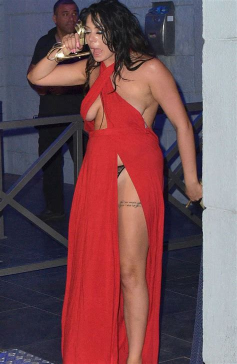 Geordie Shore's Chloe, Marnie and Holly bare thongs and