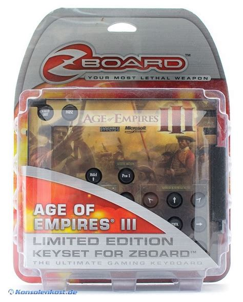PC Zboard Limited Edtion Keyset #Age of empires 3