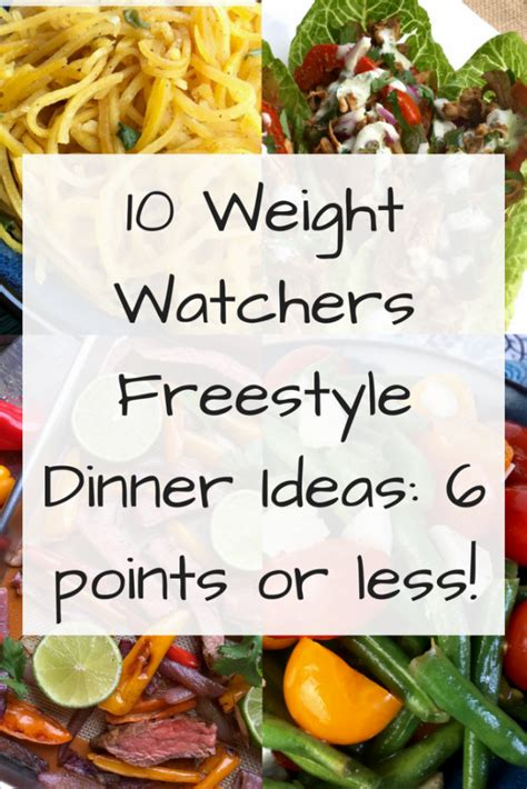 10 Weight Watchers Freestyle Dinner Ideas: 6 points or
