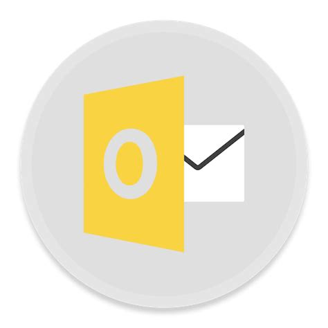 Outlook Icon | Button UI MS Office 2016 Iconset | BlackVariant
