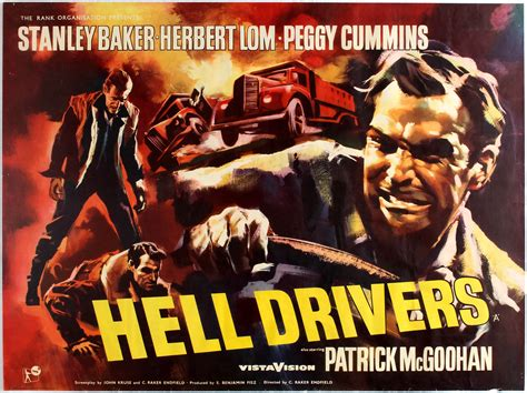 Movie Poster Hell Drivers British Film Noir directed by C