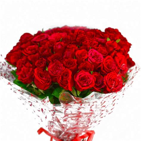 Bouquet Of 50 Red Roses India