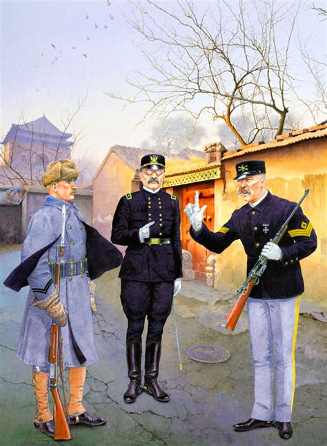US officers in Beijing, 1900 during the Boxer Rebellion