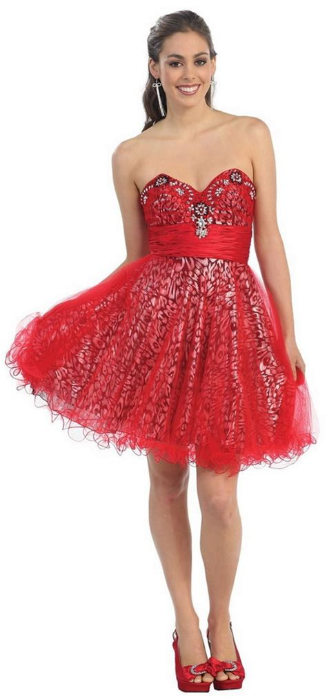 Red dresses for teens
