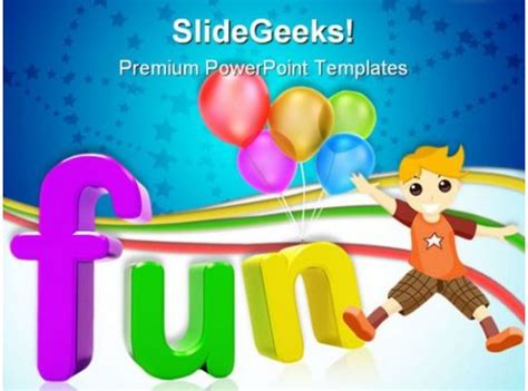 Fun Abstract Entertainment PowerPoint Templates And