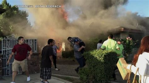 California Man Walks Into Burning House and Rescues