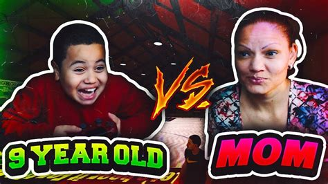 1v1 9 YEAR OLD BROTHER VS SAVAGE MOM!!! FUNNY 😂 MOM WAS